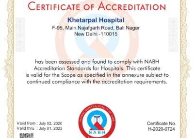 NABH Certificate